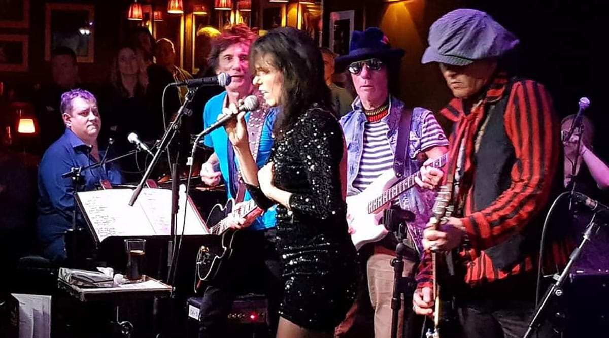 Ben Waters, Ronnie Wood, Imelda May, Jeff Beck and Johnny Depp. Ronnie Scotts 2018